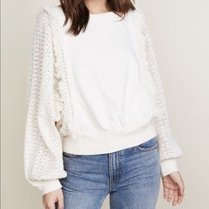 Free People Faff and Fringe Pullover NWT